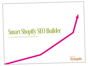 Image of the cover of the Smart Shopify SEO builder
