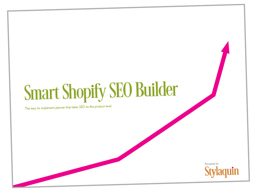The cover of the Smart Shopify SEO Builder.