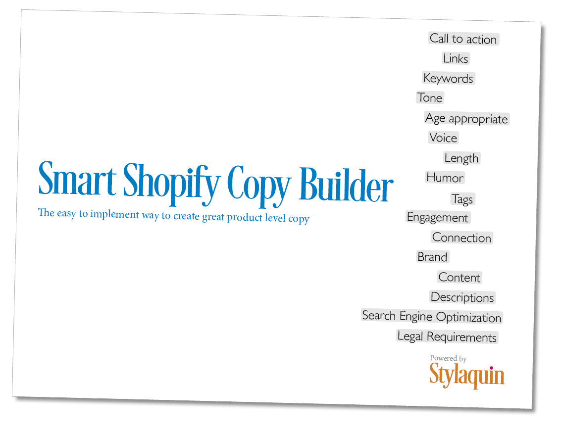 Image of the Cover of the Smart Shopify Copy Builder