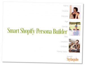 Cover of the Smart Shopify Persona Builder